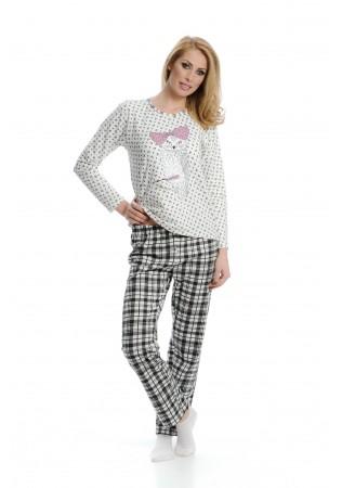 Дамска памучна пижама Бухалче