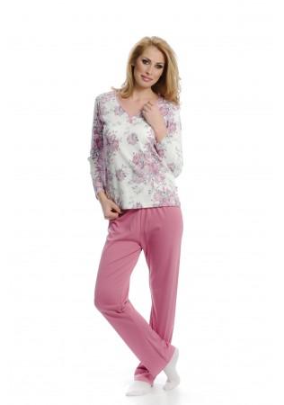 Дамска памучна пижама Roses