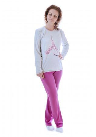 Дамска памучна пижама Париж