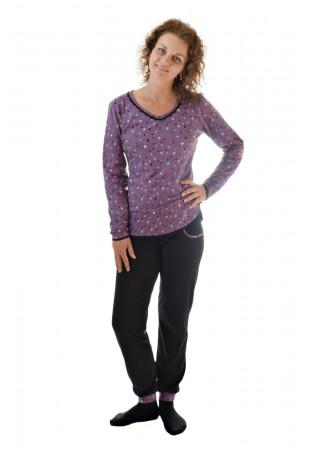 Дамска памучна пижама Звездички