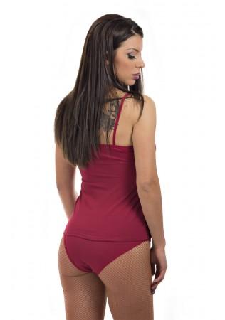 Комплект корсаж и бикини-червено