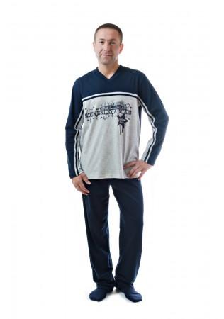 Мъжка памучна пижама Маями