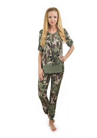 Дамска лятна пижама Military