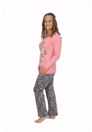 NEW Дамска памучна пижама Love me-интерлог