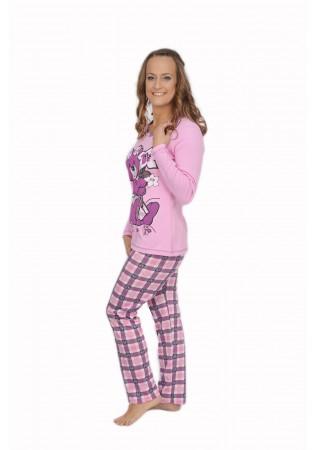 Дамска памучна пижама Bear-интерлог