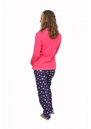 NEW Дамска памучна пижама Bunny-розово-интерлог