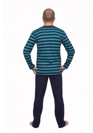 Мъжка памучна пижама интерлог-зелено