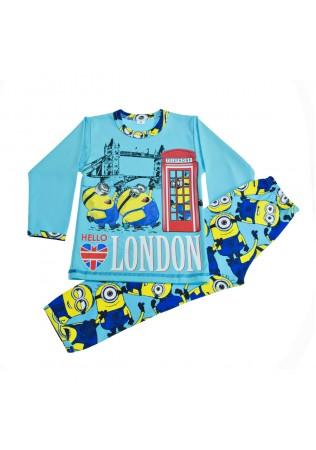 Детска пижама интерлог - Миньони в Лондон
