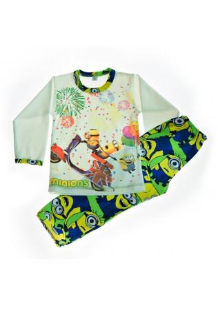 Детска пижама интерлог - Миньони с фойерверки