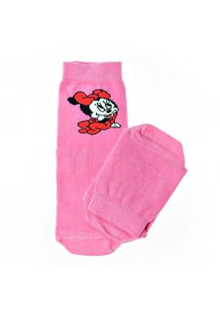 Детски памучни чорапи за момиче-картинка-размер 19-22